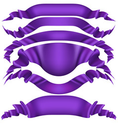 Realistic purple decorative ribbon eps 10 vector