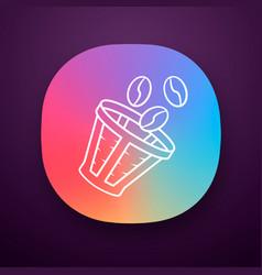 Reusable coffee filter app icon vector