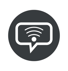 Round dialog Wi-Fi icon vector