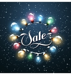Sale Promotional Label Glowing Lights vector image