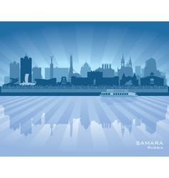 Samara Russia skyline city silhouette vector image