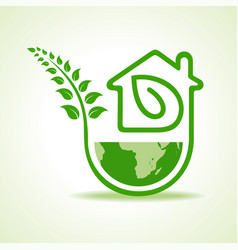 Save nature concept with eco home stock vector