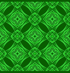 Seamless texture on green background vector