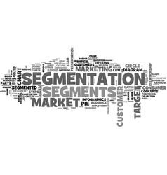 Segments word cloud concept vector