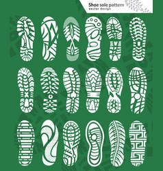 shoe prints vector image