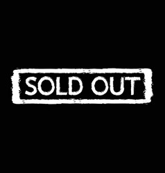 sold out stamp design vector image