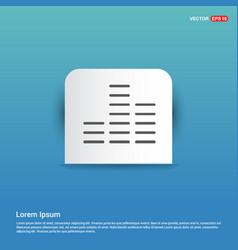 Sound beats icon - blue sticker button vector
