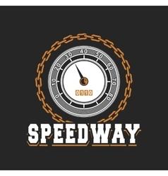 Speedway racing badge vector