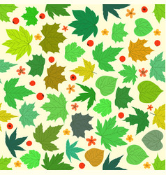 Spring maple leaves seamless pattern vector