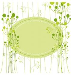springtime green dandelion vector image vector image