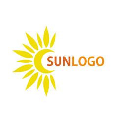 sun icon logo summer design vector image