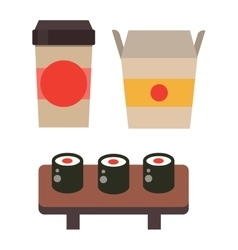 Sushi food isolated vector image