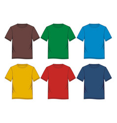Template t-shirt colorful vector