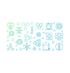 theoretical chemistry colored outline vector image