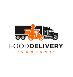 truck and motorcycle shipping logos vector image
