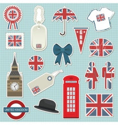 united kingdom stickers vector image
