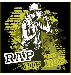 urban rapper - hip hop vector image