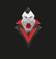 Vampire icon isolated on a black vector image