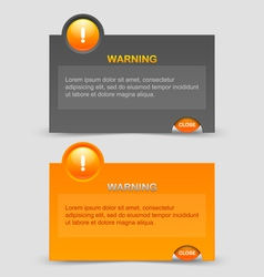 Warning notification windows vector