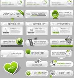 Web design template elements vector
