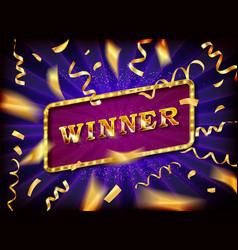 winner text vector image