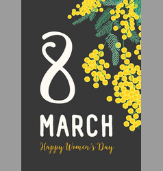 women s day postcard or party invitation template vector image