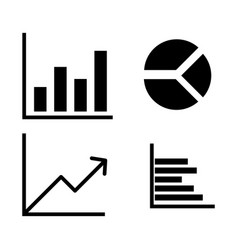 graph 4 types simple icon vector image vector image