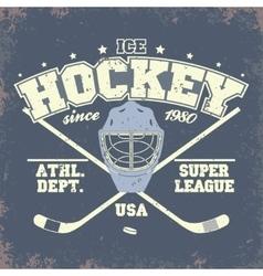 Ice Hockey Badge vector image vector image
