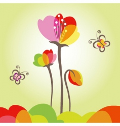 springtime colorful flower vector image vector image