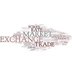 exchange word cloud concept vector image vector image