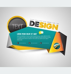 Modern banner origami 3D style vector image vector image