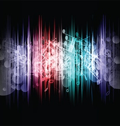 music abstract 1107 vector image