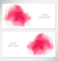 Romantic greeting cards vector image vector image
