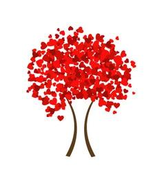 Valentine heart tree vector image