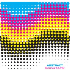 Abstract cmyk halftone background vector