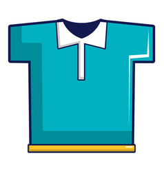 blue polo shirt icon cartoon style vector image