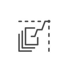 data analytics line icon vector image vector image