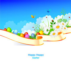 easter pic vector image vector image
