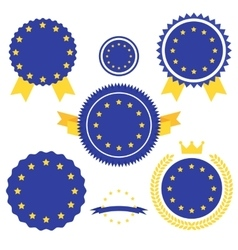 World Flags Series Flag of European Union vector image vector image