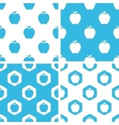Apple patterns set vector image