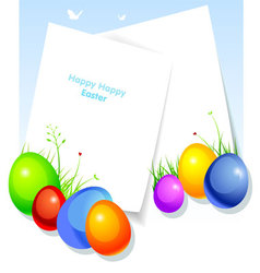 easter back vector image vector image