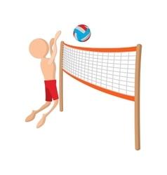 Volleyball player cartoon icon vector image vector image