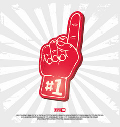 3d foam finger - fan finger modern professional vector image