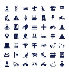 49 road icons vector