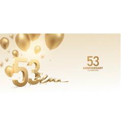 53rd anniversary celebration background vector