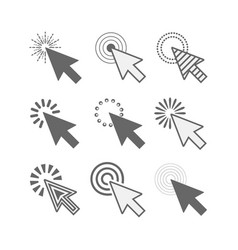 Abstract black funky active click cursor pointers vector