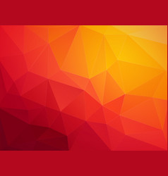 abstract red orange polygonal background vector image