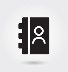 Address book icons glyph icon for any purposes vector