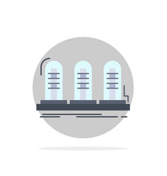 Amplifier analog lamp sound tube flat color icon vector
