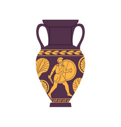 Ancient roman amphora antique vase of old rome vector